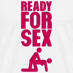 ready for sex doggy position T-Shirts - Men's Premium T-Shirt