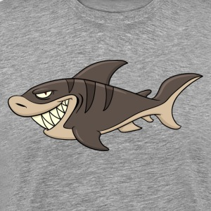 Cartoon angry fish - Men's Premium T-Shirt