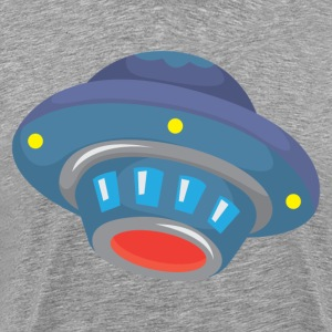 Cartoon alien flying saucer UFO T-Shirts - Men's Premium T-Shirt