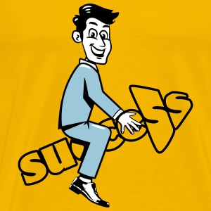 success career happiness T-Shirts - Men's Premium T-Shirt