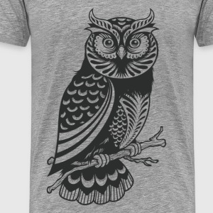 Owl design material - Men's Premium T-Shirt