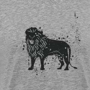 Grungy lion symbol - Men's Premium T-Shirt