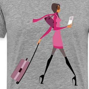Glamorous girl design T-Shirts - Men's Premium T-Shirt