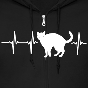 MY HEART BEATS FOR CATS! Zip Hoodies & Jackets - Men's Zip Hoodie