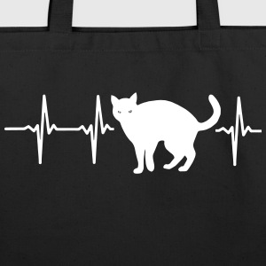MY HEART BEATS FOR CATS! Bags & backpacks - Eco-Friendly Cotton Tote