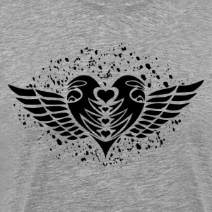 Valentine heart with wings T-Shirts - Men's Premium T-Shirt