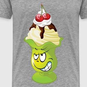 Funny ice cream cartoon expression T-Shirts - Men's Premium T-Shirt