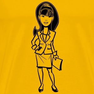 office success career woman T-Shirts - Men's Premium T-Shirt