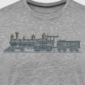 Vintage transport coal engine train T-Shirts - Men's Premium T-Shirt
