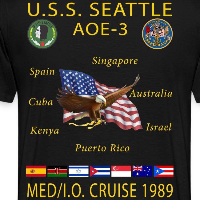 USS SEATTLE 1989 CRUISE SHIRT