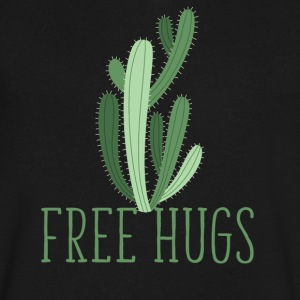 free hugs cactus T-Shirts - Men's V-Neck T-Shirt by Canvas