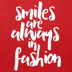 Smiles In Fashion Quote Bags & backpacks - Tote Bag