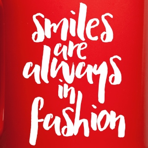 Smiles In Fashion Quote Mugs & Drinkware - Full Color Mug