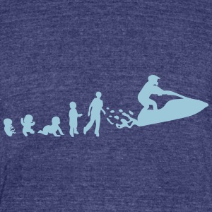 evolution jet ski freestyle adult baby 2 T-Shirts - Unisex Tri-Blend T-Shirt by American Apparel