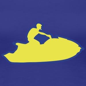 jet ski freestyle drawing traces 1 Women's T-Shirts - Women's Premium T-Shirt