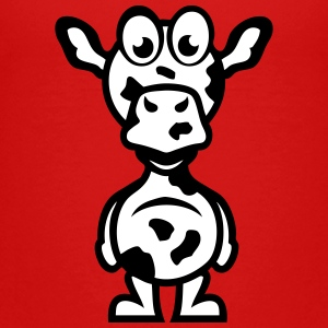 cow funny cartoon character 1110 Kids' Shirts - Kids' Premium T-Shirt