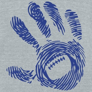 american football 8 hand imprint 1 T-Shirts - Unisex Tri-Blend T-Shirt by American Apparel