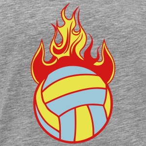 volleyball water polo ball fire flame 11 T-Shirts - Men's Premium T-Shirt