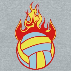 volleyball water polo ball fire flame 11 T-Shirts - Unisex Tri-Blend T-Shirt by American Apparel