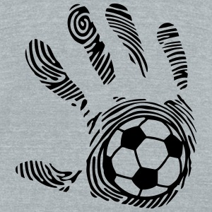 soccer hand imprint 8_1110 T-Shirts - Unisex Tri-Blend T-Shirt by American Apparel