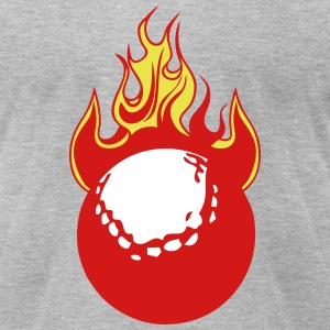 fire flame golf ball 1110 T-Shirts - Men's T-Shirt by American Apparel