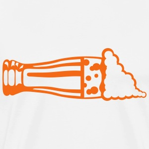 beer foam alcohol layer glass T-Shirts - Men's Premium T-Shirt