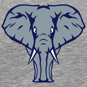 elephant trunk 1107 face T-Shirts - Men's Premium T-Shirt