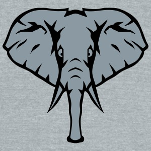 elephant trunk face 1107 T-Shirts - Unisex Tri-Blend T-Shirt by American Apparel