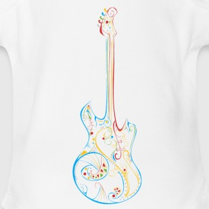 Tattoo Tribal Guitar Short Sleeve One Piece - Short Sleeve Baby Bodysuit