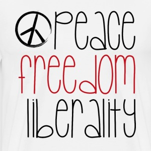 peace freedom liberality - Men's Premium T-Shirt