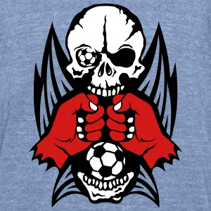 skull fist closed wing soccer sports T-Shirts - Unisex Tri-Blend T-Shirt by American Apparel