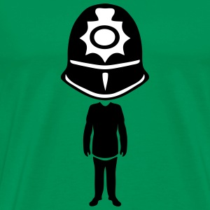 english bobby helmet policeman T-Shirts - Men's Premium T-Shirt