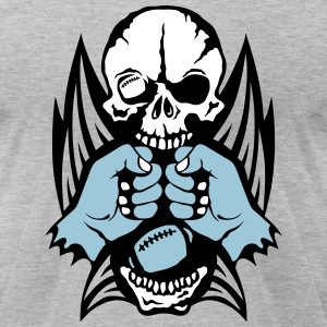 football fist skull wing sports logo T-Shirts - Men's T-Shirt by American Apparel