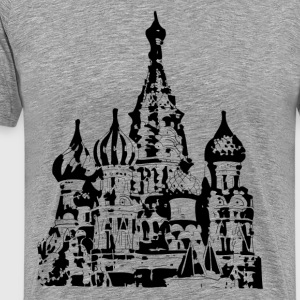 St basils cathedral church design - Men's Premium T-Shirt