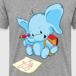 Cartoon elephant painting art - Men's Premium T-Shirt