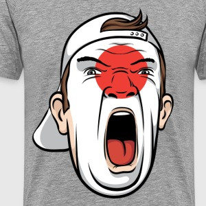 Football fan head Japan national flag - Men's Premium T-Shirt