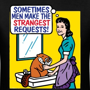 Funny shaving the beaver request - Men's T-Shirt