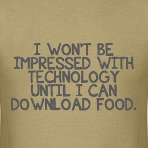 Technology and dowlonading food - Men's T-Shirt