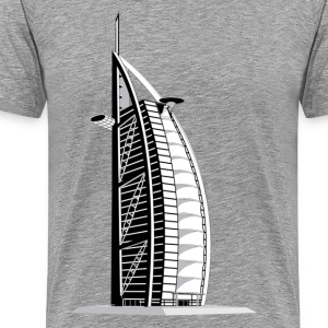 Skyscraper city Burj al arab T-Shirts - Men's Premium T-Shirt