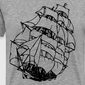 Sailing boat design art T-Shirts - Men's Premium T-Shirt