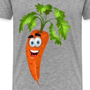 Smiley carrot Vegetable cartoon T-Shirts - Men's Premium T-Shirt