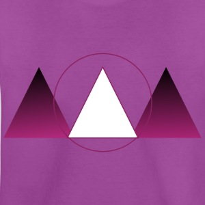 Purple triangle - Kids' Premium T-Shirt
