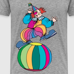 Clown standing a big ball T-Shirts - Men's Premium T-Shirt