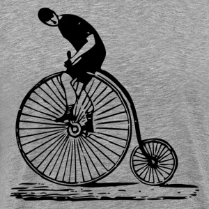 Antique bicycle design art T-Shirts - Men's Premium T-Shirt