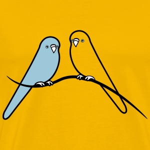 budgerigars bird sweet loving T-Shirts - Men's Premium T-Shirt