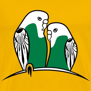 budgies birds T-Shirts - Men's Premium T-Shirt