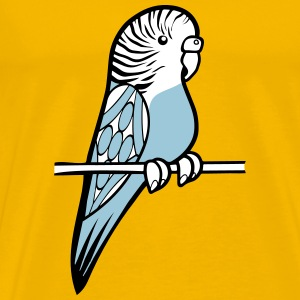 budgie bird sweet cane T-Shirts - Men's Premium T-Shirt