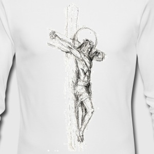 Sketched Cross Long Sleeve Shirts - Men's Long Sleeve T-Shirt by Next Level
