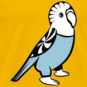 budgie bird sweet loving T-Shirts - Men's Premium T-Shirt