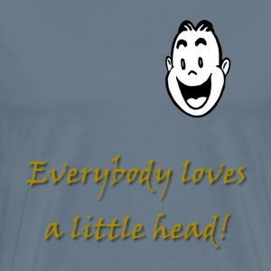 Little Head Male T-Shirts - Men's Premium T-Shirt